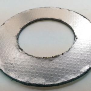 Лист ТРГ армированный гладкой сталью